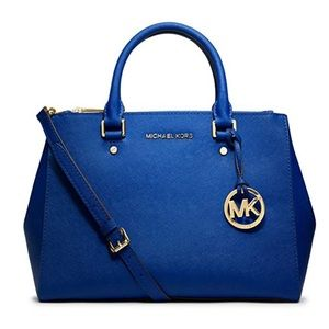 Michael Kors Sutton Medium Satchel Electric Blue